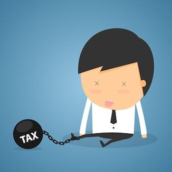 Concept d'impôt homme d'affaires