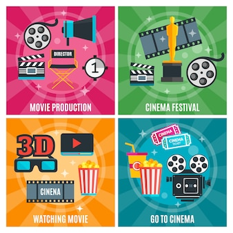 Concept de l'industrie du cinéma