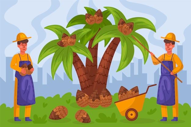 Concept d'industrie de production d'huile de palme