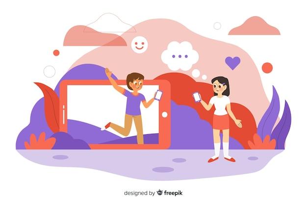Concept d'influence pour la page de destination
