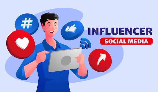 Concept d'influenceur social