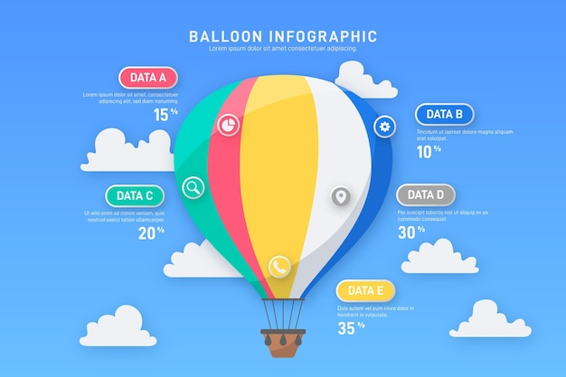 Concept d'infographie ballon plat