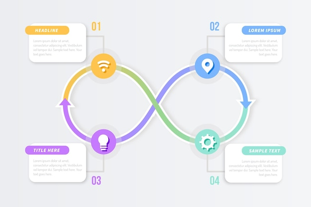 Concept d'infographie boucle infini