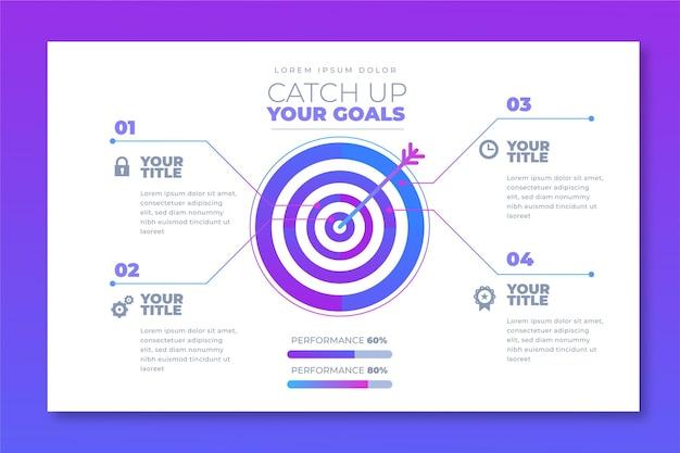 Concept d'infographie de buts