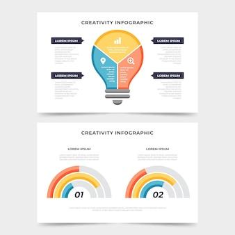 Concept d'infographie de créativité plat