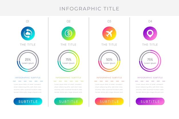 Concept d'infographie dégradé