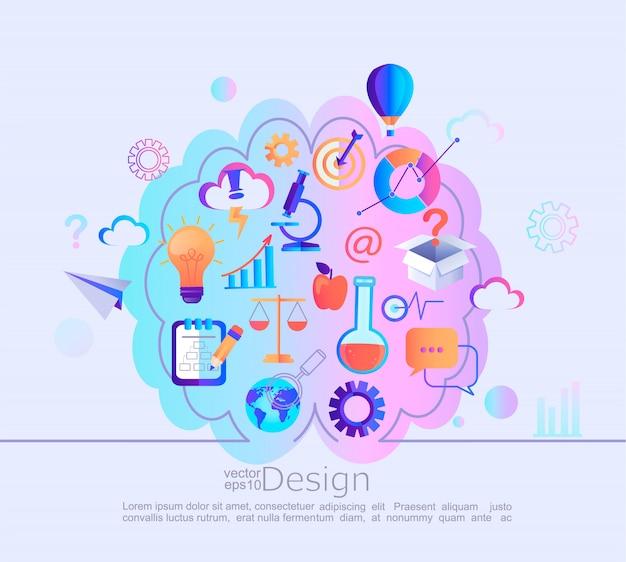 Concept d'infographie de différentes connaissances