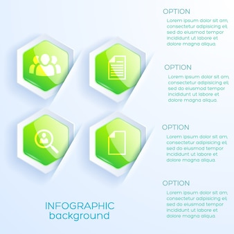 Concept d'infographie d'entreprise