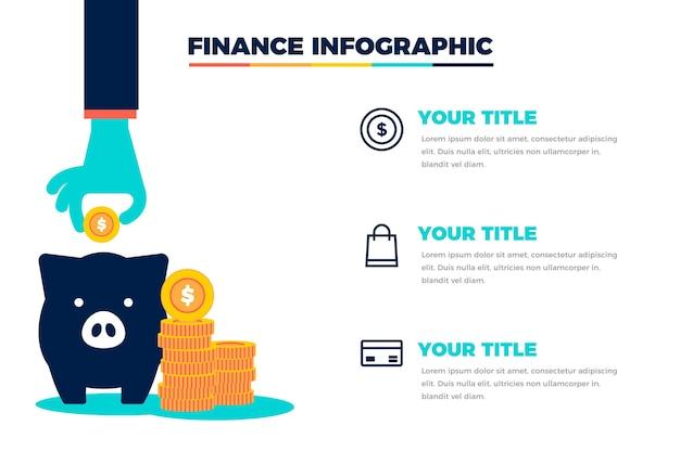 Concept d'infographie de finances
