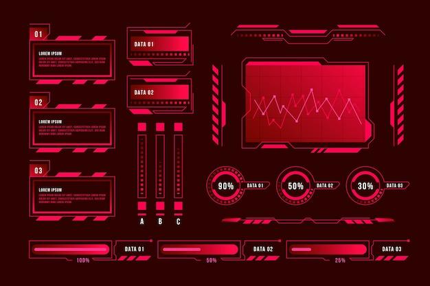 Concept d'infographie futuriste