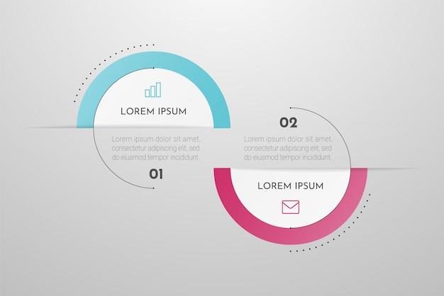 Concept d'infographie avec options, étapes ou processus.