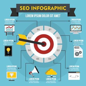 Concept d'infographie seo, style plat