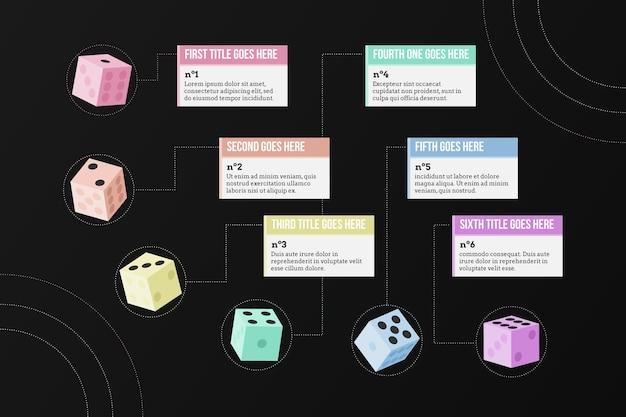 Concept d'infographie de dés