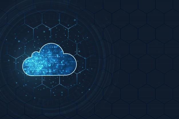 Concept informatique en nuage.