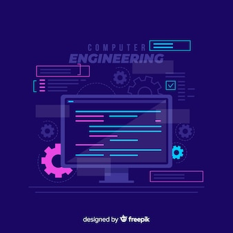 Concept d'ingénierie informatique plat