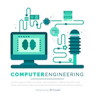 Concept d'ingénierie informatique plate