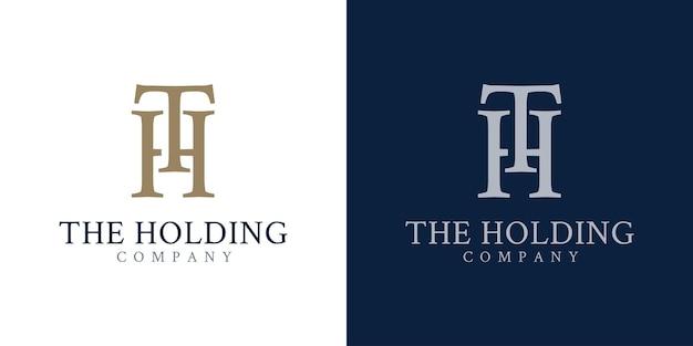 Concept initial de conception de logo t et h