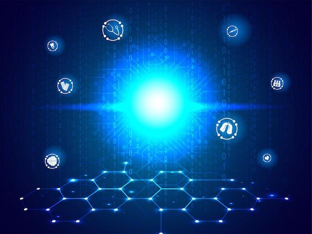Concept d'innovation biotechnologie médicale