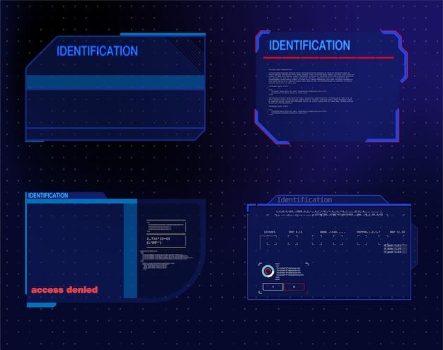Concept d'innovation de conception de communication de technologie abstraite.