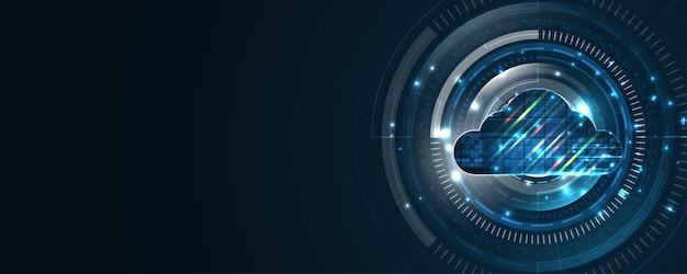 Concept d'innovation de services de données numériques de fond de technologie de stockage de cloud computing
