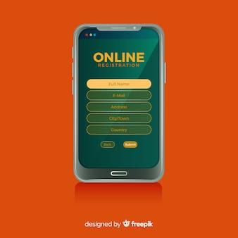 Concept d'inscription en ligne
