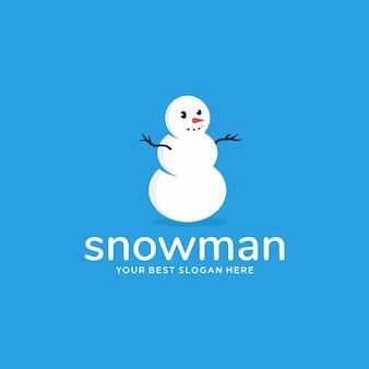 Concept d'inspiration logo bonhomme de neige