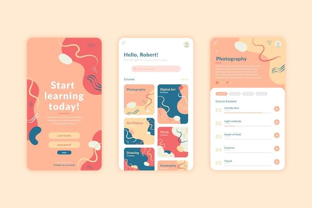 Concept d'interface d'application de cours