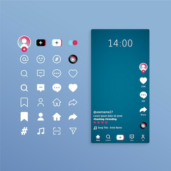 Concept d'interface tiktok