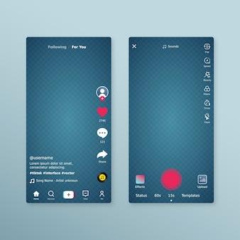 Concept d'interface tiktok
