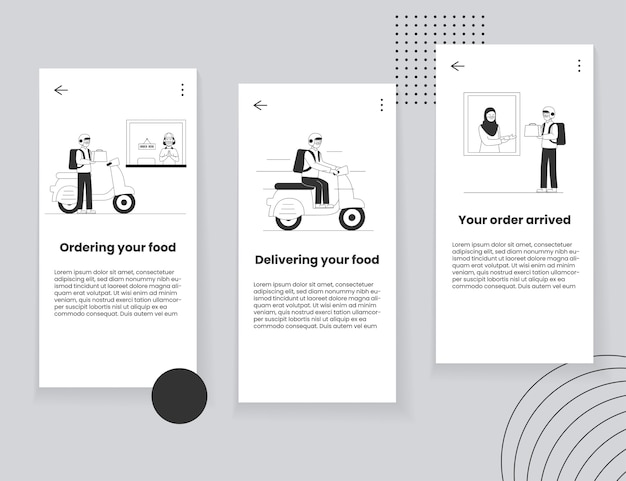 Concept d'interface utilisateur d'application mobile de livraison de nourriture