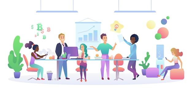 Concept d'intérieur de centre de coworking.