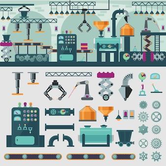 Concept d'intérieur d'usine