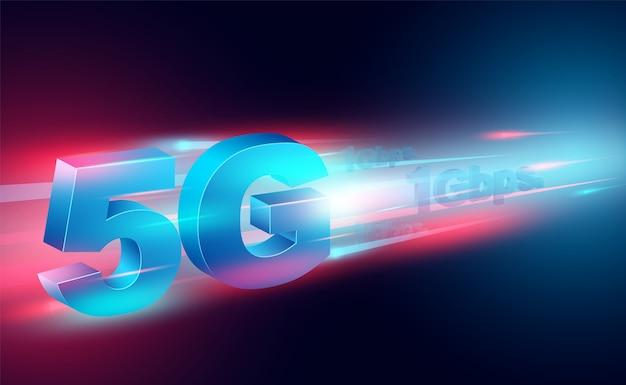 Concept internet haute vitesse dans les réseaux à large bande mondiaux vitesse isométrique