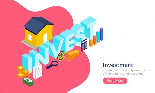 Concept d'investissement immobilier.