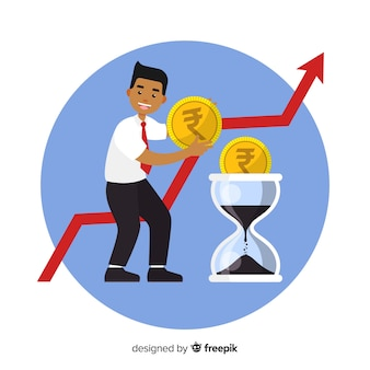 Concept d'investissement en roupie indienne