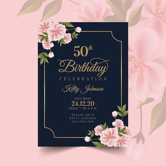 Concept d'invitation d'anniversaire élégant