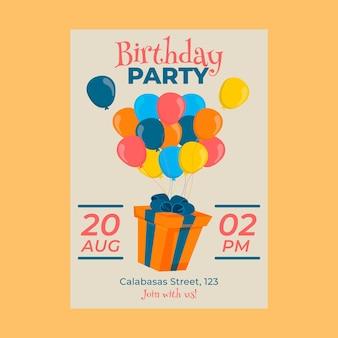 Concept d'invitation d'anniversaire pour enfants