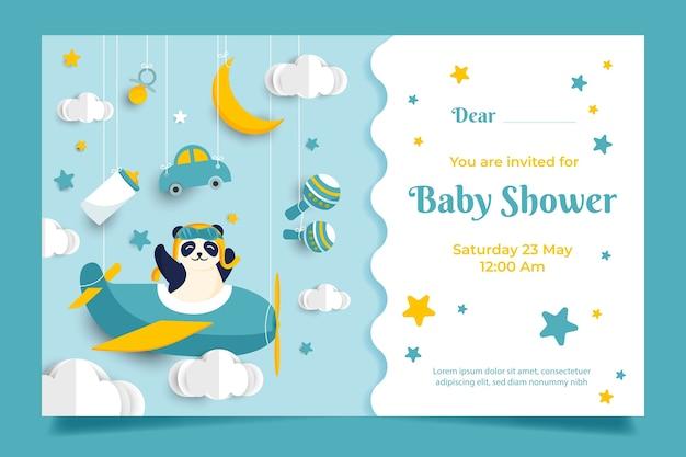 Concept d'invitation de douche de bébé