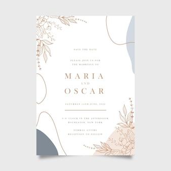 Concept d'invitation de mariage