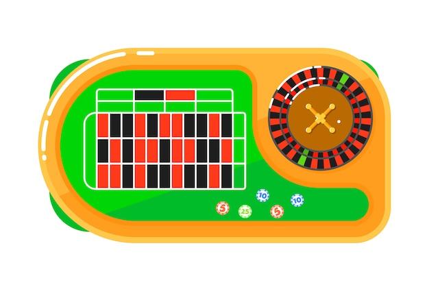 Concept isolé de casino dans un style plat