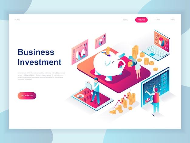 Concept isométrique design plat moderne de business investment