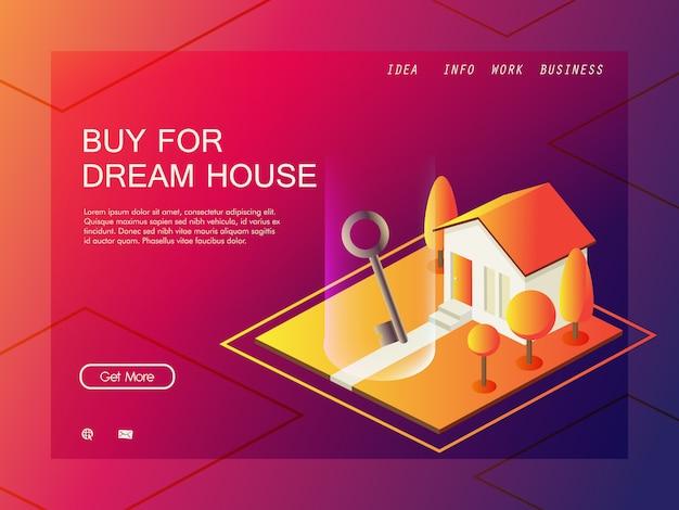 Concept d'isométrique finance entreprise immobilier