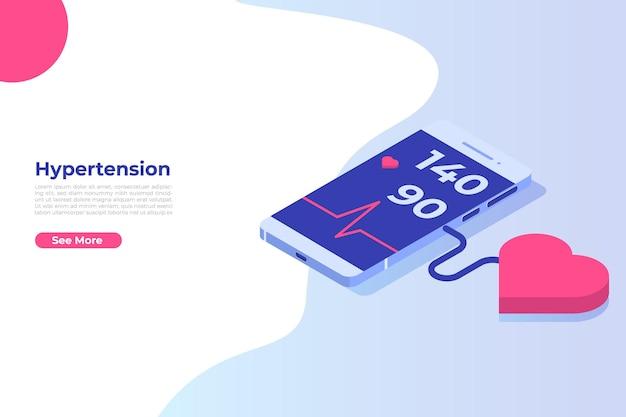 Concept isométrique de maladie d'hypertension