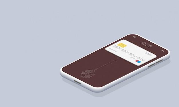 Concept isométrique de paiement en ligne