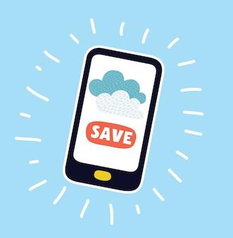 Concept isométrique de smartphone avec différentes applications