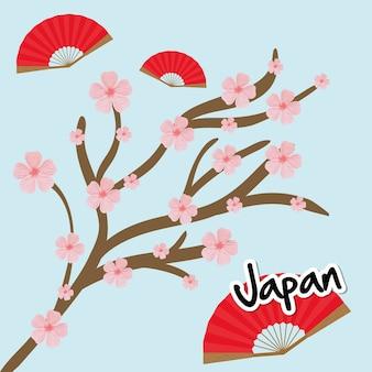 Concept de japon avec la conception d'icônes de la culture, illustration vectorielle illustration 10 eps.