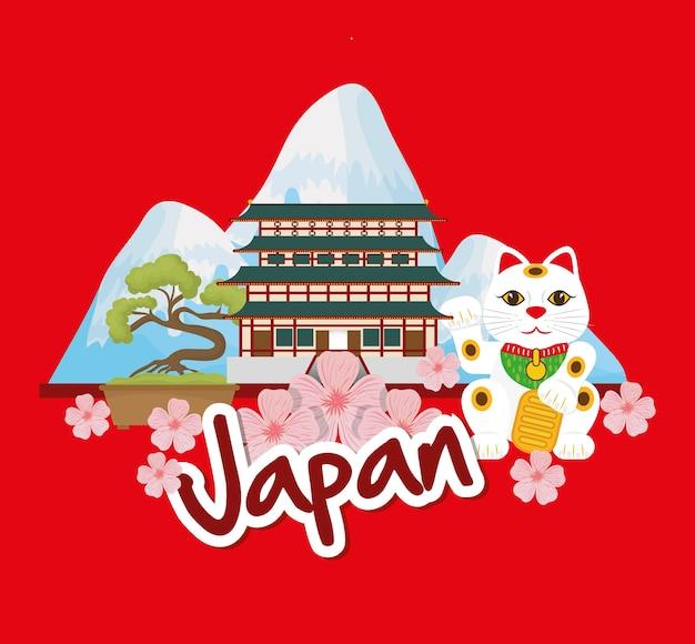 Concept de japon avec le design de l'icône de la culture