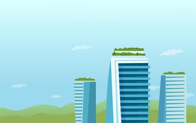 Le concept d'un jardin, un parc sur le toit des gratte-ciel.