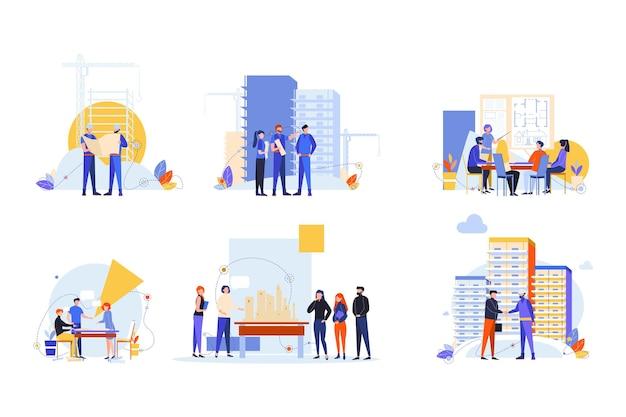 Concept de jeu de constructeurs et d'architectes