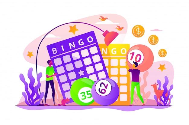 Concept de jeu de loterie.